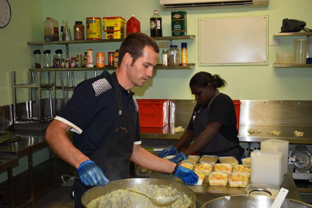 Josh cooking Gunbalanya